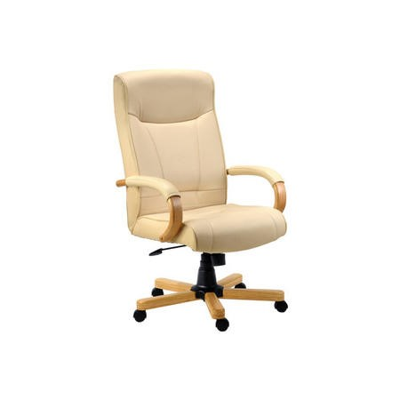 Teknik Office Knighton Leather Faced Executive Chair in Light Oak
