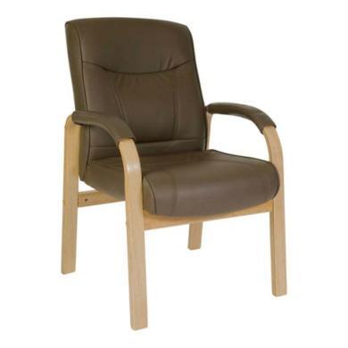 Teknik Office Richard Leather Faced Reception Chair in Light Oak