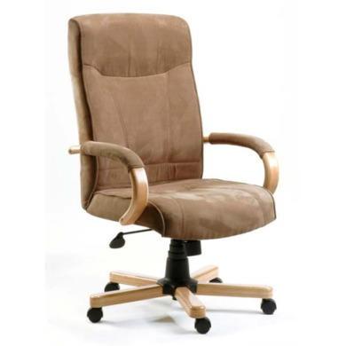 Teknik Office Gainsborough Faux Suede Executive Chair in Light Oak