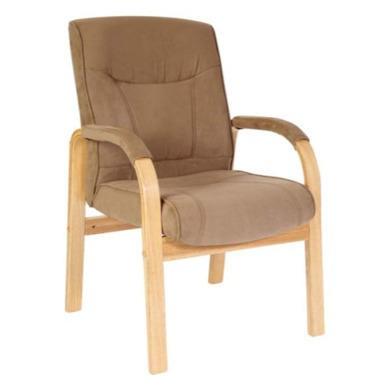 Teknik Office Gainsborough Faux Suede Reception Chair in Light Oak