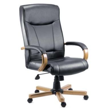 Teknik Office Kinsley Leather Faced Executive Chair in Light Oak