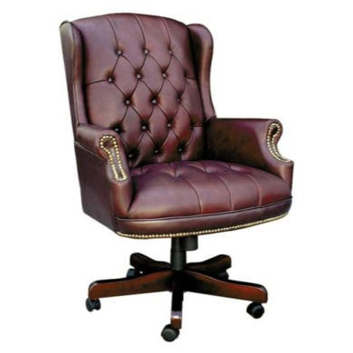 Teknik Office Chapman Leather Faced Traditional Executive Chair  burgundy