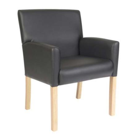 Teknik Office Zara Leather Faced Reception Chair Furniture123