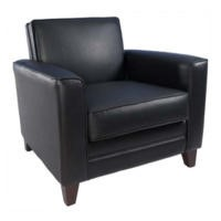 Teknik Office Newton Leather Faced Reception Chair