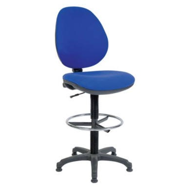 Teknik Office Bayron Deluxe Draughtsman Chair  blue