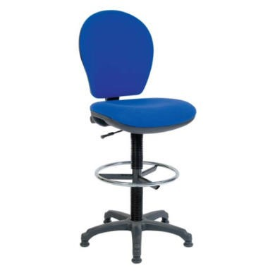 Teknik Office Frances Office Draughting Chair  blue