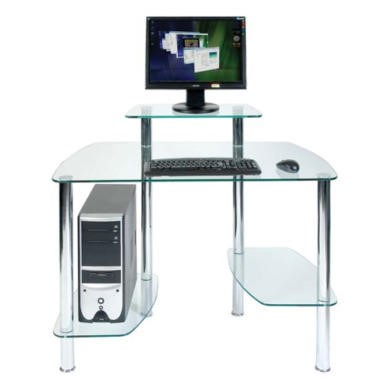 Teknik Office Drury Glass Workstation Desk