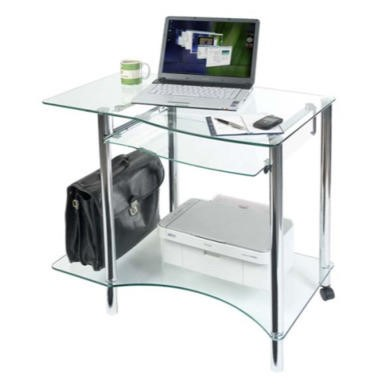 Teknik Office Maya Glass Workstation Desk