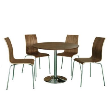 LPD Soho Walnut Round Dining Set