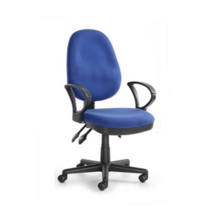 Eliza Tinsley System Blue Fabric Office Chair With Arms Furniture123