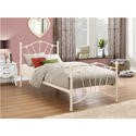 FOL059806 Birlea Furniture Sophia Single Cream Metal Bedstead