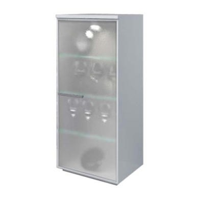 Sciae New White High Gloss Glazed 1 Door Cabinet