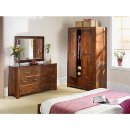 Heritage Furniture UK Laguna Sheesham Bedroom Storage Set with ...