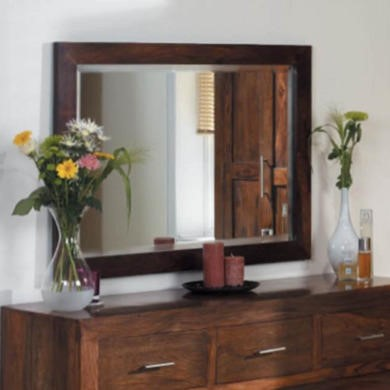 FOL060220 Heritage Furniture UK Laguna Sheesham Medium Landscape Mirror