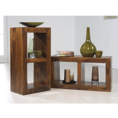 Heritage Furniture UK Laguna Sheesham 2 Hole Display Unit