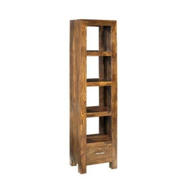 Heritage Furniture UK Laguna Sheesham 4 Shelf 1 Drawer Display Cabinet