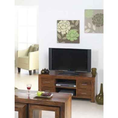 Heritage Furniture UK Laguna Sheesham 4 Drawer TV Cabinet