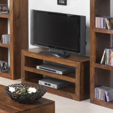 Heritage Furniture UK Laguna Sheesham 2 Shelf TV Stand