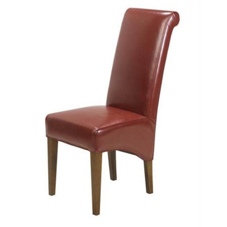 Heritage furniture uk laguna sheesham red upholstered for Red upholstered dining chair