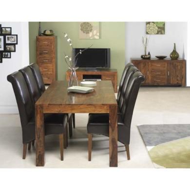 uk laguna sheesham 6 seater 10 piece dining room set furniture123