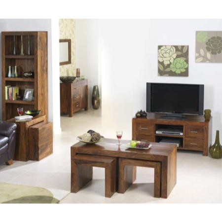 Heritage furniture uk laguna sheesham 6 piece living room for 6 piece living room furniture sets