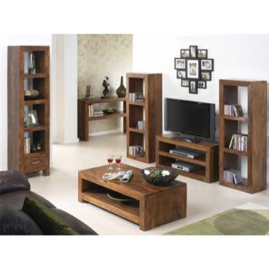 laguna sheesham 6 piece living room set with console table fol060264
