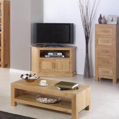 Heritage Furniture UK Laguna Oak Corner TV Cabinet