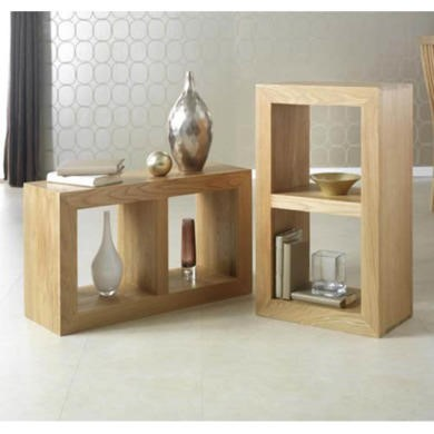 Heritage Furniture UK Laguna Oak 2 Hole Display Unit