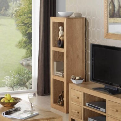 Heritage Furniture UK Laguna Oak 3 Hole Narrow Display Unit