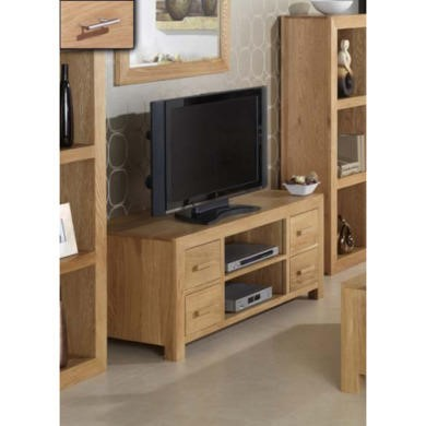 Heritage Furniture UK Laguna Oak 4 Drawer TV Cabinet