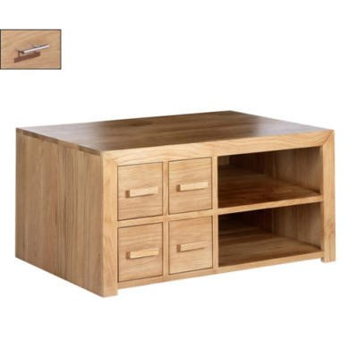 Heritage Furniture UK Laguna Oak 4 Drawer Hifi Unit