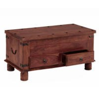 Heritage Furniture UK Delhi Indian 2 Drawer Blanket Box