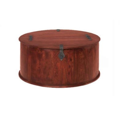 Heritage Furniture UK Delhi Indian Round Coffee Trunk
