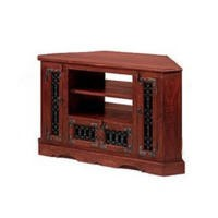 GRADE A2 - Heritage Furniture UK Delhi Indian Corner TV Cabinet