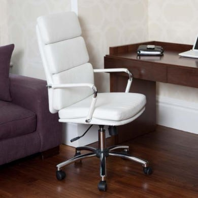 Teknik Office Miller White Executive Chair