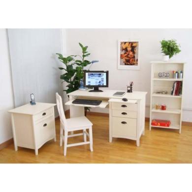 Maine White Home Office Furniture Set Furniture123