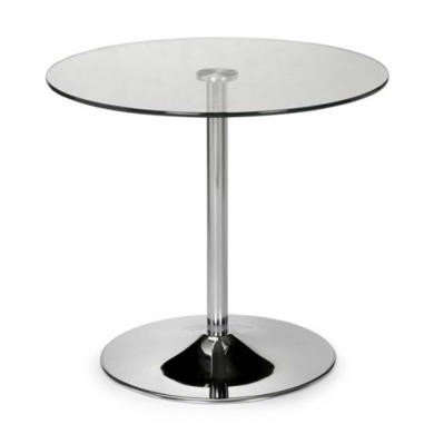 Julian Bowen Kudos Round Dining Table with Glass Top
