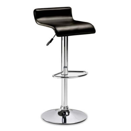 Julian Bowen Stratos Bar Stool in Brown Faux Leather