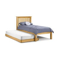 Julian Bowen Barcelona Solid Pine Single Bed with Trundle Guest Bed
