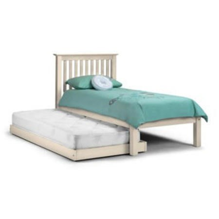 Julian Bowen Barcelona Solid Pine Single Bed with Trundle Bed in White
