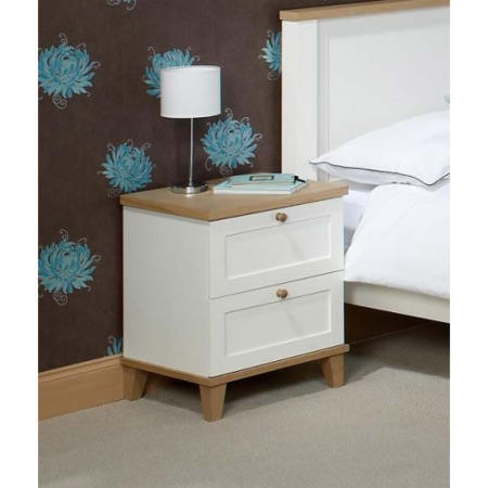 LPD Boston 2 Drawer Bedside Chest