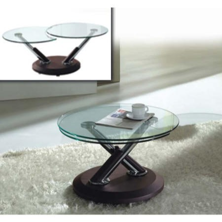 Exclusive Uk Tokyo Glass Extending Coffee Table In Brown