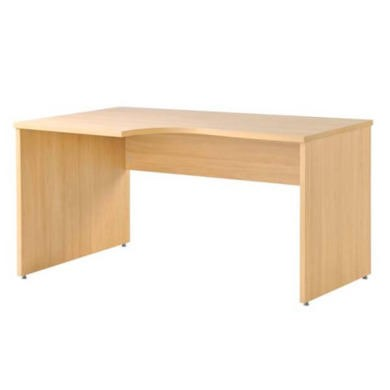 Dams Furniture Eco Left Hand Panelled Radial Desk in Oak