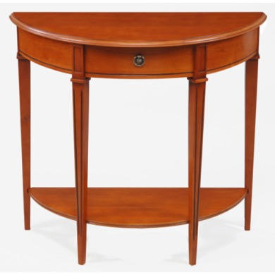 Origin Red Gloucester Half Circle Console Table in Teak