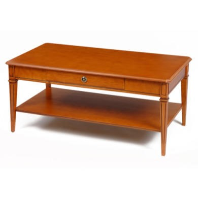 Origin Red Gloucester 1 Drawer Rectangular Coffee Table in Teak
