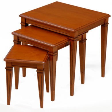 Origin Red Gloucester Nest of Tables in Teak