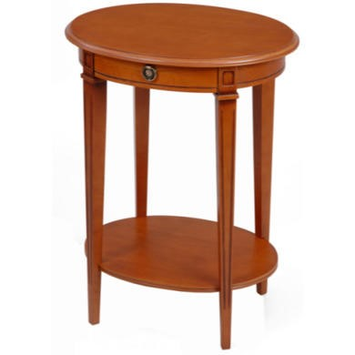Origin Red Gloucester Oval Side Table in Teak