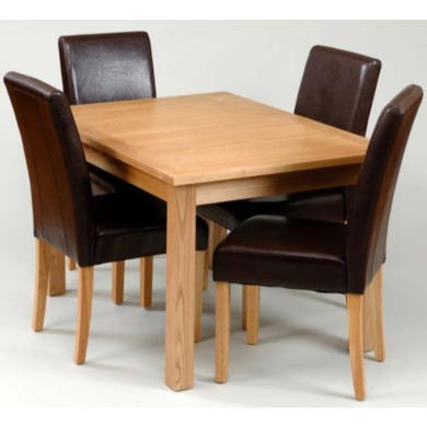 Origin Red Chesterfield Ash Centre Leaf Extending Dining Table