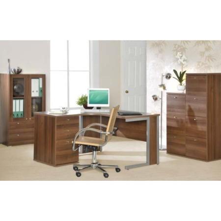 Newsam Office Radial Desk And Filing Furniture Set