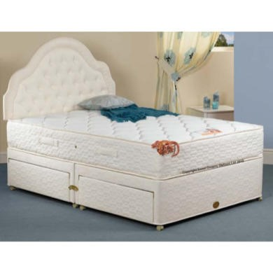 Sweet dreams aromatherapy sprung edge divan and mattress for Small double divan with drawers